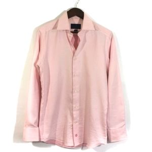 David Donahue Pink Button Down Slim Fit Top